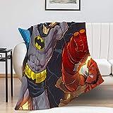 Couverture en peluche Hellboy Batman pour canapé, lit, canapé (100 x 130 cm)