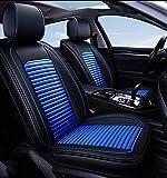Siège d'auto automobile Seat Cover Facile à nettoyer en cuir artificiel siège auto automobile Coussin de siège réglable Fit for Lexus GX 460 Sorento Optima Murano Sentra Versa Xterra Legacy, Bleu Sièg