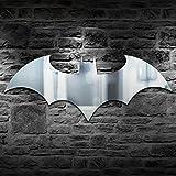Veilleuse Led Applique Murale Personnalité Usb Télécommande Batman Miroir Lumière Coloré Couleur Armoire Couloir Salon Chambre Décor