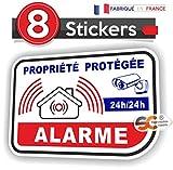 Lot de Stickers Alarme Vidéo-Surveillance Autocollant