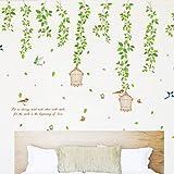 BB.er Autocollants de décoration de Mur de Restaurant d'autocollant de Mur de rotin de Fleur, 120 × 90cm