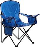Amazon Basics Chaise de camping avec poche isotherme Bleu (Rembourré, XL)