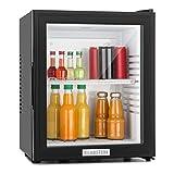 Klarstein MKS-12 - Minibar, Réfrigérateur à boissons, Mini-réfrigérateur, 24 Litres, 1 étagère, Facile à nettoyer, env. 38 x 47 x 38 cm (LxHxP), Fonctionnement ultra silencieux, Noir