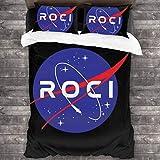 KUKHKU Rocinante Roci NASA Parure de lit 3 pièces avec housse de couette 86′′′x70′′′′ Parure de lit décorative 3 pièces avec 2 taies d'oreiller