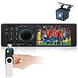 Autoradio stéréo Simple Din 4 Pouces à écran Tactile résistif Autoradio FM Bluetooth avec Deux Ports USB / AUX-in / Carte SD + caméra de recul + télécommande