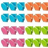 Ruluti 24 Pièces Magnétiques Clips en Métal Couleur De Sucrerie Mémo Dossier Créatif Stockage Multi-Fonctionnel Clamp