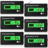 3 Pièces Batterie LCD Batterie des Moniteurs de Capacité Indicateurs de Tension de Capacité Batterie de Moto de Voiture Testeurs Compteurs de Batterie avec Alarme pour Golf RV (Vert)