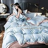 housse de couette 140x200 garcon,Lavez la soie quadrupours quadruple en dentelle d'été de la dentelle d'été de la soie filet rouge de la soie fraîche de la soie de glace est un lit à manches un seul