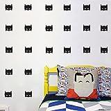 COOL peu héros Masque Autocollant mural Batman Super Hero Masque Kid Chambre à coucher décalcomanies - noir