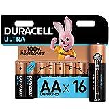 Duracell Piles alcalines ultra AA, paquet de 16