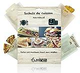 LUXINES - 4 Sacs pour grille pain réutilisables Sacs de cuisson anti-adhésif Sacs pour sandwich panini grillé grille-pain poches cuisson sachet