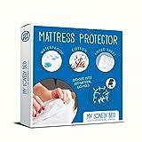 My Lovely Bed - Protège Matelas 2x80x200 cm - Lit articulé - Alèse Anti Acarien et Imperméable - Souple et silencieuse - Molleton 100% Coton - Compatible Grands Bonnets