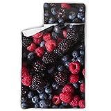 Blackberries Fresh Fruit The Night Nap Mat Sacs de Couchage Enfants avec Couverture et Oreiller Rollup Design Idéal pour Les garderies préscolaires Sleepovers 50'x20