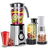 Uten Blender Smoothie 1.25L, Uten Mini Blender, Mixeur Blender pour Milk-Shake, Jus de Fruits et Légumes, Blender Portable pour Sport, Voyage et Maison (a)