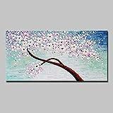CHBOEN Peinture décorative Mintura Art Grand Taille Toile Huile Peinture à la main Peint Palette Couteau 3D Texture Acrylique Arbre Arbre Fleur Art Art Art pour la décoration