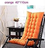 Lit de voyage Relax Rocking Chair Coussin souple longue Mat Chaise Tatami Chaise longue Fauteuil inclinable Coussin plage Canapé Pad Fenêtre Plancher 48x120cm 5-23 ( Color : 40x110cm , Size : Orang )