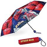 Parapluie Anti Tempete Enfant Spiderman - BONNYCO | Parapluie Pliant pour Sac, Sac à Dos ou Voyage | Parapluie Compact avec Structure Renforcée | Mini Parapluie Enfant - Cadeaux Originaux Garcon
