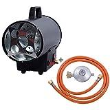 Canon à chaleur au gaz FUXTEC GH10-10 kW puissance de chauffage, 300 m³/h débit d'air chaud, chauffage industriel gaz butane - propane (IMPORT ALLEMAGNE)
