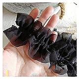 39.3in Double couche en mousseline de mousseline de mousseline de mousseline de mousseline, en trois dimensions en organza plissé en organza dentelle, accessoires de rideau, matériaux d'artisanat adap