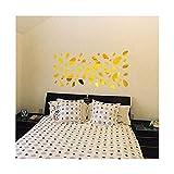PETZMALL Sticker Mural Amovible 12 pcs/s de 12 pcs/S Autocollant Mural Amovible pour Salon Chambre télévision arrière-Plan Miroir Mur Mural décor (Or) (Color : Gold)