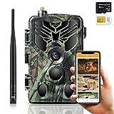 SUNTEKCAM 30MP 4K 4G Caméra de Chasse Caméra de Surveillance Étanche avec caméra de Surveillance de Transmission de téléphone Portable avec Carte de débit