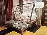 Hyggelia Lit de la Maison TIPI en Bois et deuxième lit, sans barrières, lit pour Enfants, pour Adolescents, Mon lit cabane (90 x 190cm (Twin Size), Bois Naturel)