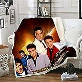 LIFUQING Imprimé en 3D Elvis Presley (Elvis Presley) Couverture Canapé Literie Bureau Mode Est Adulte-150X200Cm