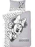 Minnie Mouse Parure de lit Bébé 100% Coton - Housse de Couette 100x135 cm + Taie 40x60 cm…