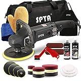 SPTA 1200W Machine à polir/polisseuse voiture polissage polisseuse rectifieuse,125mm 150mm 180mm avec 16 éponges de polissage tampons de polissage/ 3 Disque de Laine/3 Disque de rotation | ROMPS7AC