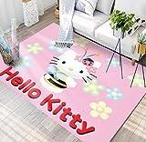weiyibaobei Tapis Rectangle Antidérapant Rectangle Anime Dessin Animé Hello Kitty Chambre d'enfants Salle D'Étude Couloir Salon Chambre Chevet Décoratif Tapis De Sol 80 * 120Cm