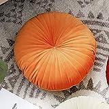 GE&YOBBY Nordique Velours Futon Coussin De Siege,Couleur De Bonbon Moderne Doux Coussin De Chaise,Rond épais Tatami Pouf pour Dossier Lit Canapé Canapé Voiture Chaise Orange 40x40cm
