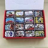 AOM Coloré Mini boîte en Fer Blanc scellé Pot Emballage boîtes Bijoux, boîte de Bonbons Petites boîtes de Rangement canettes pièces Boucles d'oreilles, boîte-Cadeau Casque, Locomotive aléatoire, S