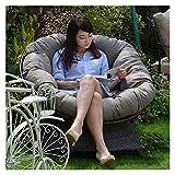 Coussins d'extérieur pour chaises de patio épaississent le coussin de chaise suspendu rond d'oeuf, coussin de chaise d'extérieur d'intérieur, tapis de siège de balançoire hamac meubles de patio décor