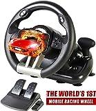 Serafim R1 + Volant de course - Jeu Volant avec Responsive Pédale - Compatible avec XBOX ONE, PS4, PS3, Switch, PC, iOS, Android