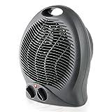 Taurus Gobi 2000 - Radiateur soufflant 2000W, Thermostat réglable, Fonction ventilateur, 3 positions de chauffage (Froid/Chaud), Poignée de transport, Silencieux, Noir