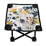 Lesif Chaise de camping pliable, Esther minimale, couleur menthe dorée, pastel et portatif, à quatre coins pour camping, randonnée, voyage, pêche, plage, barbecue 27,9 cm