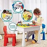 Kublo Kids Ensemble table et 2 chaises multi-usage 5 en 1 pour activités de construction et de loisirs