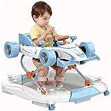 LIUCHANG Zuoao Trotteur Pliable Forme Voiture Poussette bébé Multi-Fonction Walker avec Double Usage Walker Convient for 6-18 Mois, Rose liuchang20 (Color : Blue)