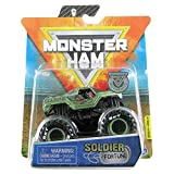 Monster Jam 2020 Spin Master 1:64 Diecast Monster Truck with Wristband: Legacy Trucks Soldier Fortune