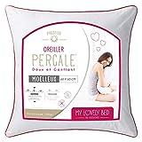 My Lovely Bed - Oreiller Percale 100% Coton - 60x60 cm - Doux et Gonflant - Confort Moelleux - Anti acariens - Haut de Gamme