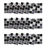 HLIYY 18PCS Sticker Mural Papier peint Salle de Bain et crédence Cuisine I Sticker carrelage de Ciment adhesif Mural Décoration de Noël en PVC pour Fenêtres et Murs