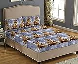 Elafy Drap-housse en polaire imprimé 3D   Draps de lit en polaire extra profond pour un sommeil confortable   4 tailles avec taies d'oreiller assorties (imprimé tigre), King size (153 x 200 + 30 cm)