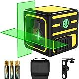 Niveau Laser, papasbox 20M Niveau Laser Autonivelant avec Magnétique Rotative à 360 °, Étui de Protection, 3* AAA Piles