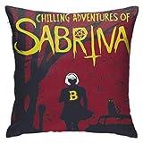 qimingshajinzhubaoshangxing Chilling Adventures of Sabrina Confortable taie d'oreiller canapé Voiture taie d'oreiller Souple 18x18 Pouces