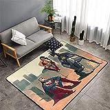 Matt Flowe Tapis de cuisine Superhero Avengers Tapis de porte Superman Batman Wonder Woman pour salon Chambre d'enfant 5 x 7 cm