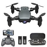 Mini Drone Caméra 1080P, Drone avex Télécommande WiFi, Deux Batteries Modulaires, Pression dAir Fixe, Convient aux Enfants et aux Adultes
