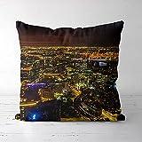 ASFDF Couvre-Coussin de tête de taie d'oreiller imprimée de Melbourne (16x16 Pouces) Cadeau de décoration de canapé de lit