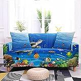 Impression Numérique 3D Ocean Series Housses De Canapé Tout Compris Stretch Housse De Canapé Housse Complète Housse De Canapé en Tissu pour La Maison