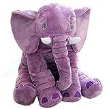 KiKa Singe bébé éléphant Oreiller Enfants éléphant Jouet Gris éléphant Coussin Cadeaux pour Nouveau-né Enfant en Bas âge (Violet)