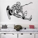 Autocollant Mural Vinyle Stickers Balançant Spiderman Decal Amovible Art Décor À La Maison Autocollants 58 x 80 cm